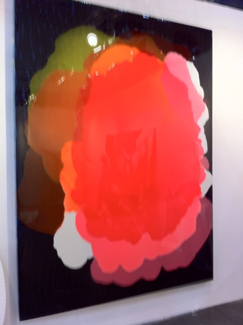 Crappy shot of a cool painting by Gavin Perry at Barbara Davis Gallery.