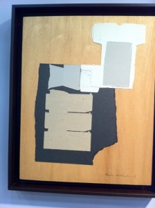 Louise Nevelson collage at McClain.