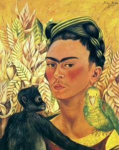 Kahlo-1942_Autorretrato-Loro-Chango