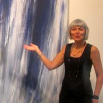 Sonia Roesch and a painting by Raimund Girke. Sonja's on the right. Or is it the left.