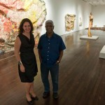 Blanton Director Simone Wicha and El Anatsui