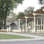 At Last, A Menil Cafe! Rice Building Workshop Designs Minimalist Food Truck Pavillion Behind Bookstore.