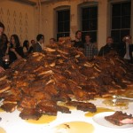 Rubell&#039;s Heap o&#039; ribs and honey at Performa &#039;09