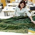 Green Curtain Dress No Longer Gone With The Wind; UT Conservators Allow Public a Ringside Seat for Tedious Labwork