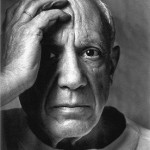Arnold Newman, Pablo Picasso, Vallauris, France, 1954, 12 x 10 inches, silver gelatin print