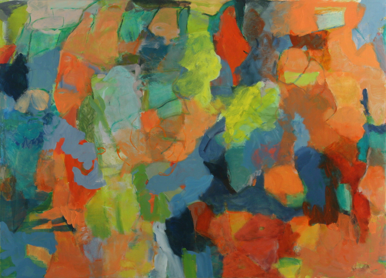 "Terrell James, Miami, 2011 oil and acrylic on canvas 47"" x 65"""
