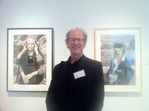 Austin artist Rino Pizzi stands in the midst of his installation, The Mona Lisa Project (2011), which incorporates photographic portraits of several Austin-area women involved in visual art. Pizzi was among the 32 artists invited to present at the Grand Rapids Art Museum, where works on view tended to be lyrically beautiful, generally thoughtful and occasionally provocative. Pizzi was overall impressed with the scope of the event, but wanted to see juried awards that offer cash value equal to those determined by popular vote. That's going to have to happen for the competition to maintain credibility. And, who knows, one of these times, the popular and professional votes may choose the same work? Photo credit: Janet Tyson