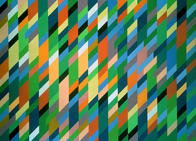 painting by Bridget Riley