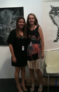 Sonia Dutton on right, a transplanted New Zealander and Champion gallerist.