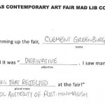 Texas Contemporary Mad Libs winners!