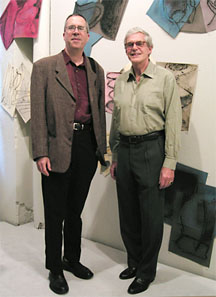 The guy on the left, Raphael Rubenstein? He's the one you should be stalking for your next review.