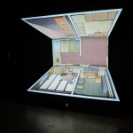 Tabaimo at James Cohan Gallery: video installation of a house with sliding rooms that morph into one another