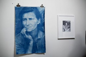 "Ben Ruggerio re-envisions Dorothea Lang's ""Migrant Mother"""