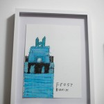 Chris Cody's drawing of the Frost Bank
