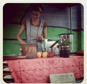 Julia Hungerford making sandwiches, photo by Leah Krafft
