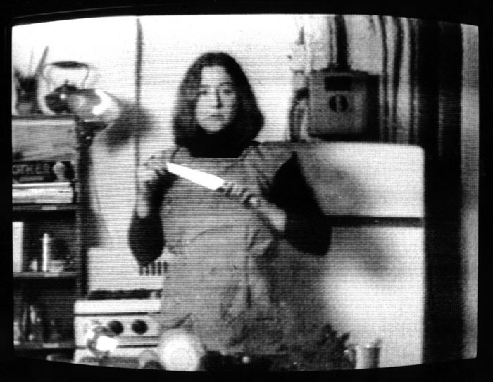 "Still from Martha Rosler's ""Semiotics of the Kitchen"""