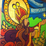 "There's a Teer in my Beer: Houston's Gonzo247 ""Urbanizes"" Saint Arnold Logo Into Graffiti Art"