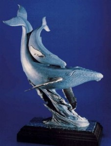 Kent Ullberg's whales, part of the Keeler Collection