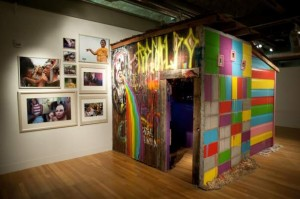 "Photographs and half of hte ""video duplex"" hut by Otis Ike with Ivete Lucas"