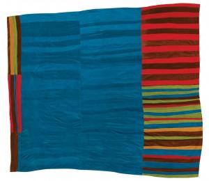 Annie Mae Young, born 1928. Strips, corduroy, ca. 1975, 95 x 105 inches