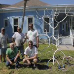 'Tis the Season for Shiny Trees: Surls' White Walking Flower Installed at Rockport Art Center