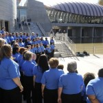 The Wal-Mart Association Choir performs at the opening festivities