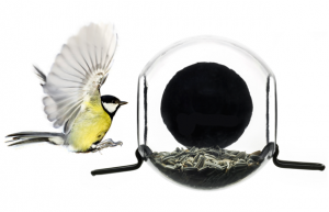 Swedish Bird Feeder. Watch your feathered friends up close with this beautiful and simple acrylic birdhouse that attaches to your window with suction.  $19.95 @ the Contemporary Arts Museum, Houston