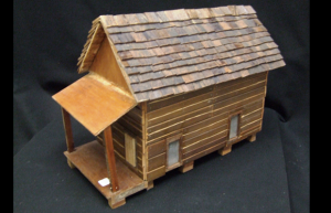The Wooden House by Johnny Lamar. A model replaca of Lamar's homested in Beaumont. $100 @ Art Museum of Southeast Texas, Beaumont