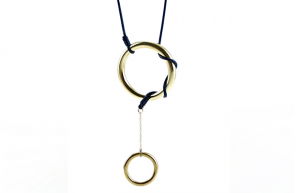 Leather and Brass Hoop Necklace by Regan Rowland. Inspired by the great saddle makers of the West. $92 @ Amon Carter Museum.
