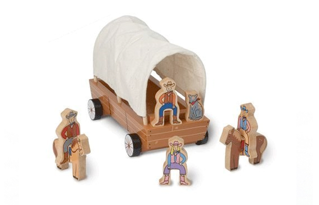 Covered wagon toy