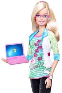 Barbie-with-Windows-7-PC