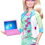Barbie-with-Windows, created to help get girls into IT professions