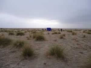 Garth Weiser, 8 x 20 ft., Marfa, December 2011, 2011, durock, plaster, wood, tempera paint, 96 x 240 x 5 in