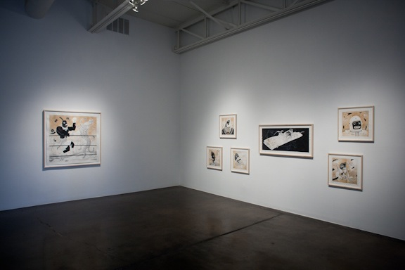 Lawrence Lee, Boksers, installation view, Allison V. Smith/Barry Whistler Gallery