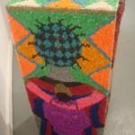 "Ann Johnson's pebble mosaic ""Collective Community"""