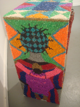 "Ann Johnson's pebble mosaic ""Collective Community"""