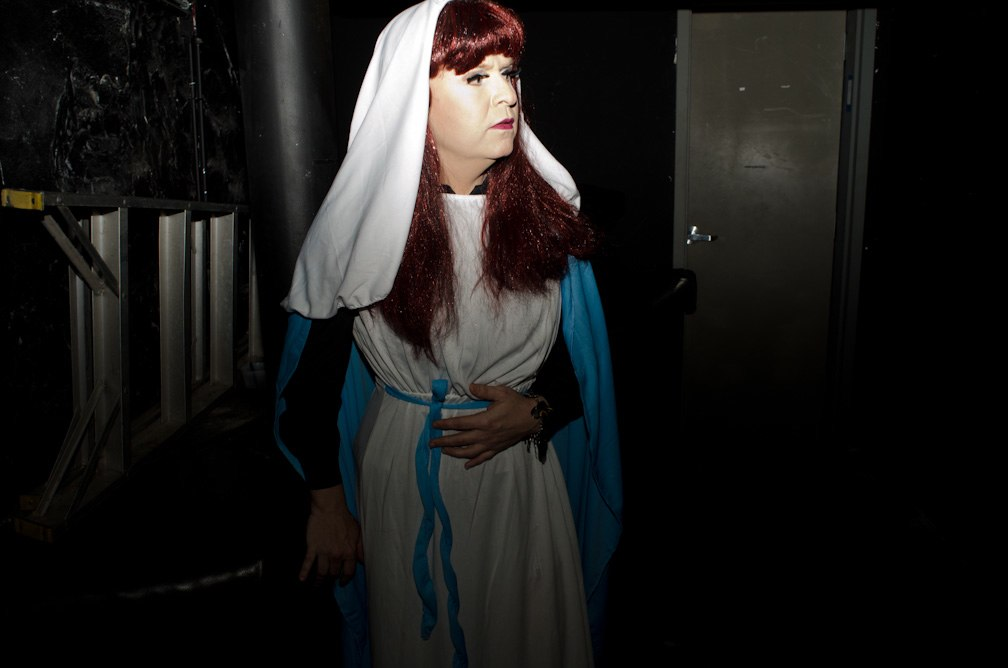 Mitzy Meyers as The Virgin Mary Photo by Otis Ike