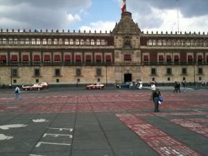 Anti-Calderon protest in the Zocalo Plaza, summer 2011