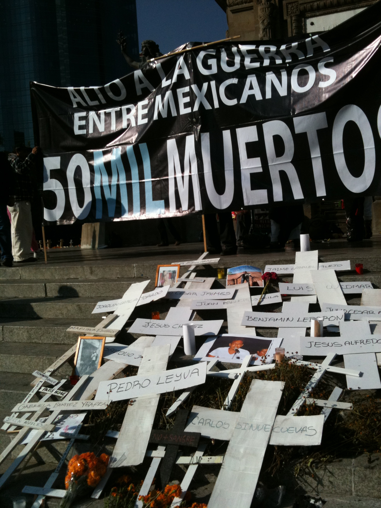 Day of the Dead Anti-drug War Protest, Angel of Independence, November 2011