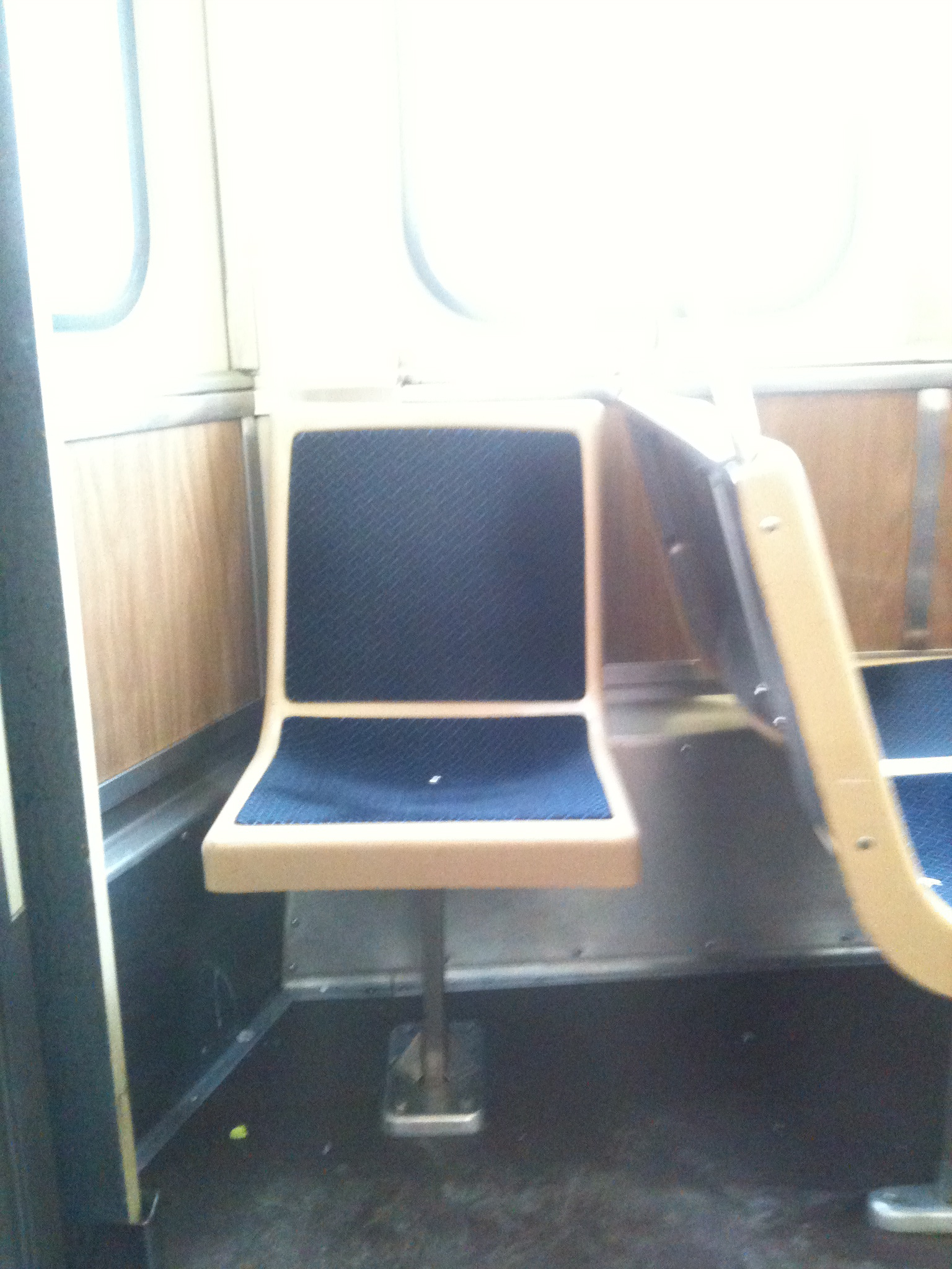 Lonely seat on CTA Blue Line, January 2012