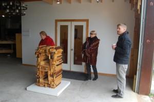 Jake Zollie Harper welcomes studio visitors