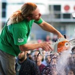 Carvers Take Chainsaws and Blowtorches to Blocks of Recycled Rainwater at for 4th Ice Sculpture Showdown