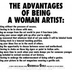 "The Guerrilla Girls, ""The Advantages of Being a Woman Artist,"" 1998, poster"