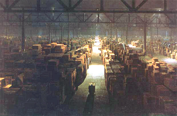 "OK, this is the warehouse from ""Raiders of the Lost Ark,"" but you get the idea."