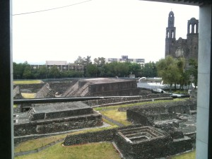 View of Tlateloco from the UNAM art museum