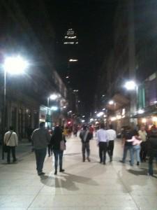Madero street at night.