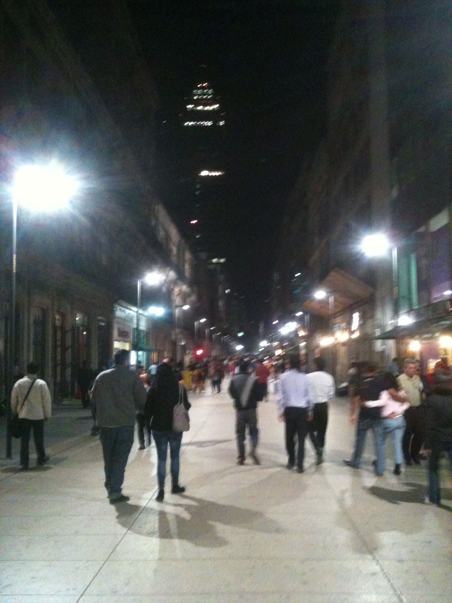 Madero street at night.