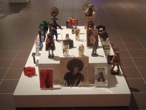 Robert Pruitt, objects in Oba's throne room