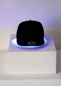 Robert Pruitt, Thinking Cap, cap, fluorescent light, 2011