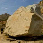Heizer's Big Rock On The Move, Slowly